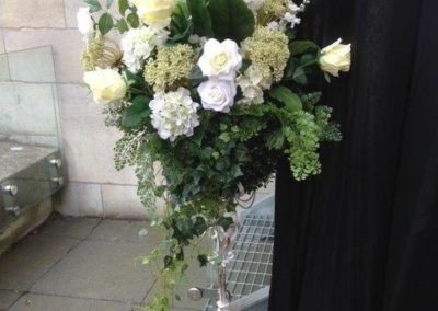 Small flower basket on stand